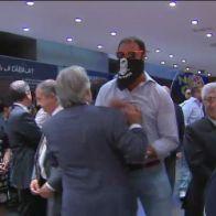 Momento de la agresión al diputado Josep Sánchez Llibre